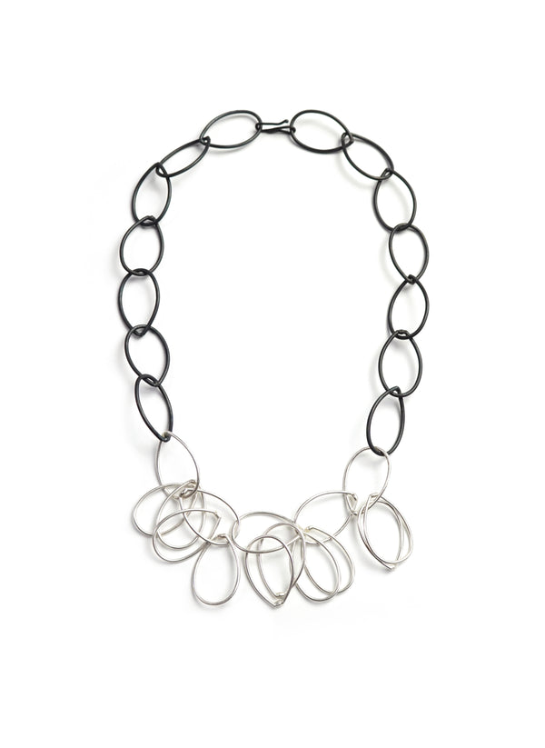 Ilhan necklace in steel and silver