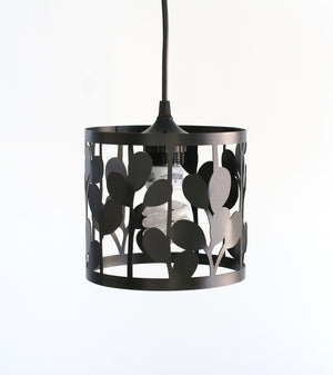 vertical leaf small pendant lamp - matte black