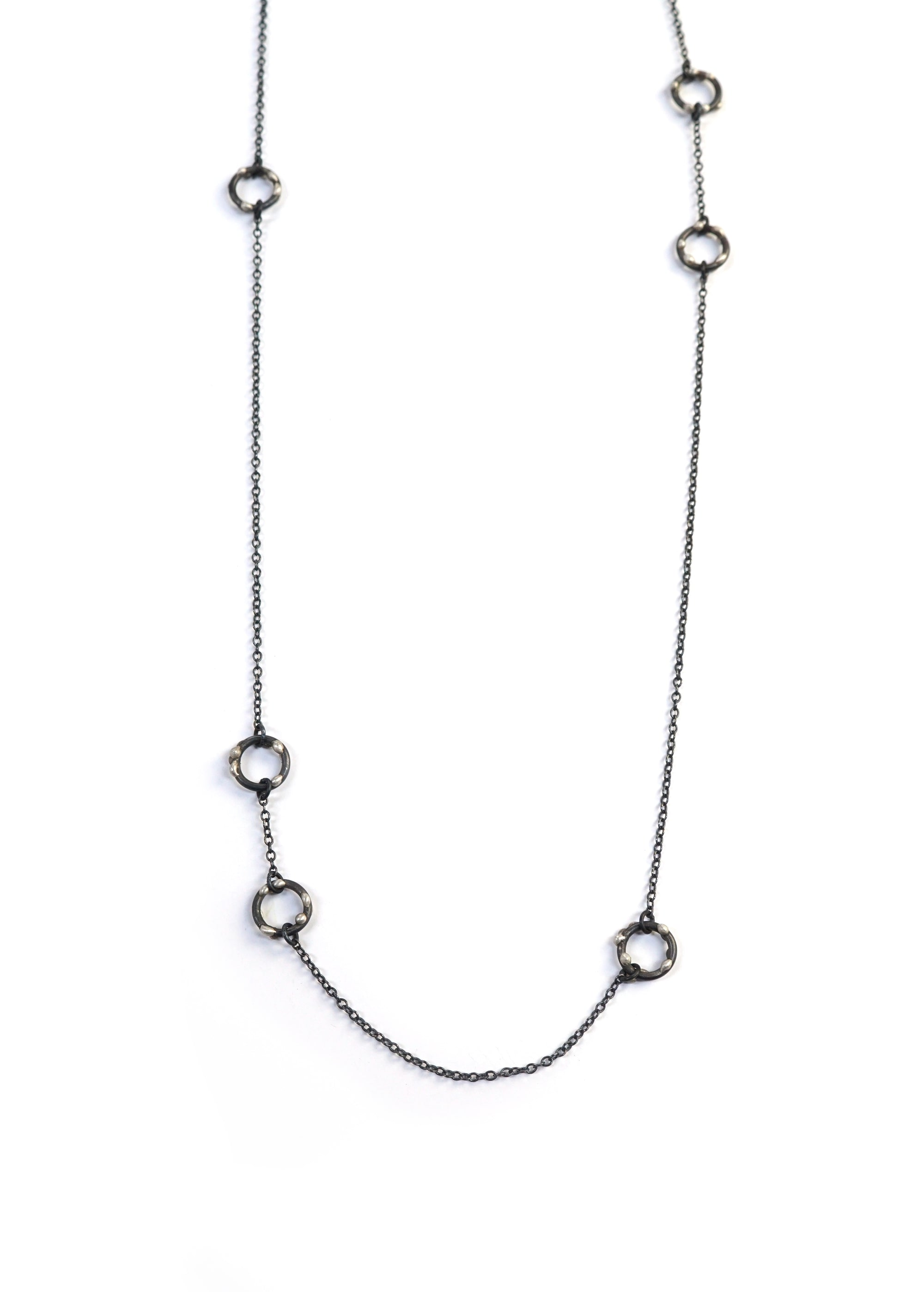 Alma Necklace - Silver on Steel