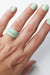 Stacking Ring in Soft Mint