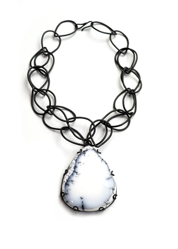 Contra statement necklace