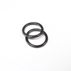 black stacking midi ring (set of two)