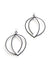 Tete Statement Earrings in black steel, silver, or bronze