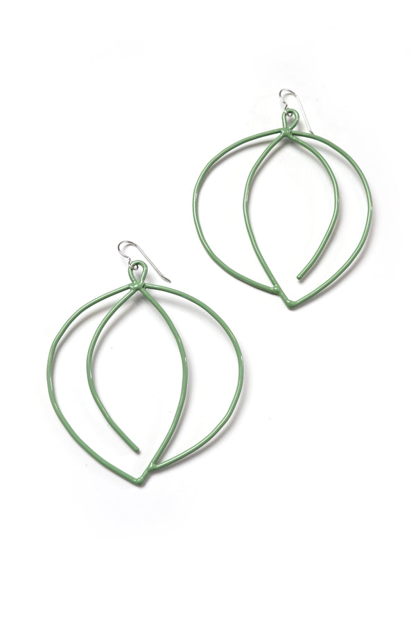 Tete Statement Earrings in Pale Green
