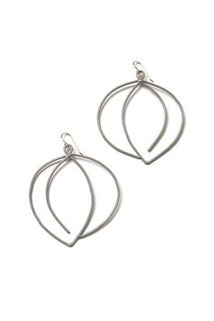Tete Statement Earrings in Stone Grey