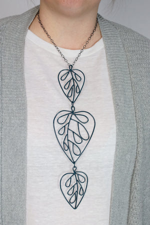 Triple Ada Long Necklace in Deep Ocean