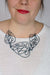 Triple Ada Statement Necklace in Deep Ocean