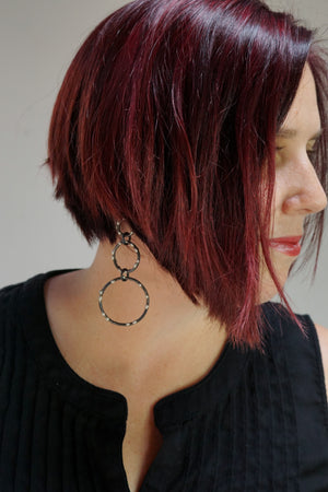 Abbott Earrings - Silver on Steel