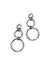 silver on steel handmade triple circle earrings