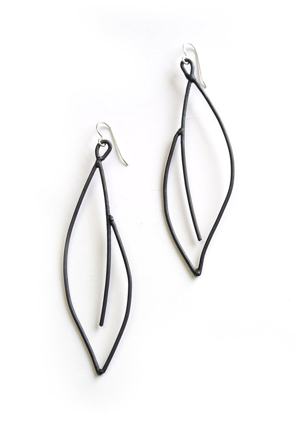 edgy and elegant black statement earrings