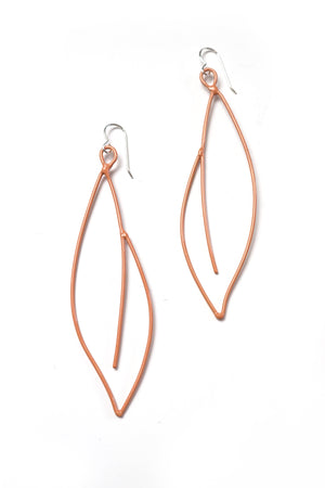 Verdant Statement Earrings in Dusty Rose