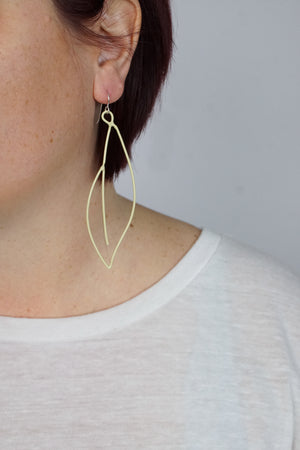 Verdant Statement Earrings in Green Sand