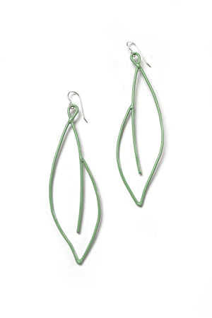 Verdant Statement Earrings in Pale Green