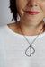 Volo Necklace in black steel, silver, or bronze