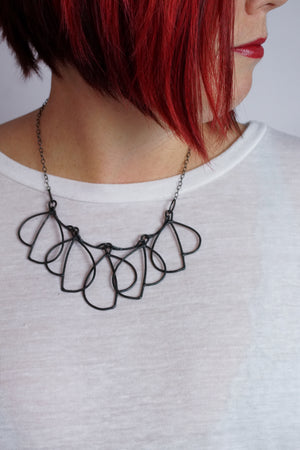 Cavolo Necklace in steel, silver, or bronze