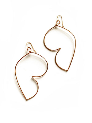 Volupte Statement Earrings in black steel, silver, or bronze