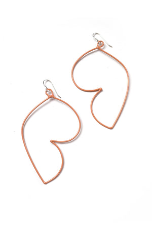 Volupte Statement Earrings in Dusty Rose