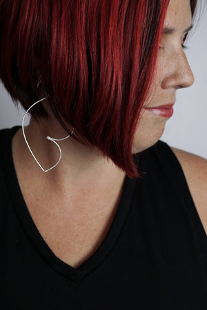 Volupte Statement Earrings in silver - sample sale
