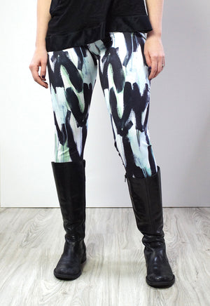 Wings Leggings in turquoise and aqua