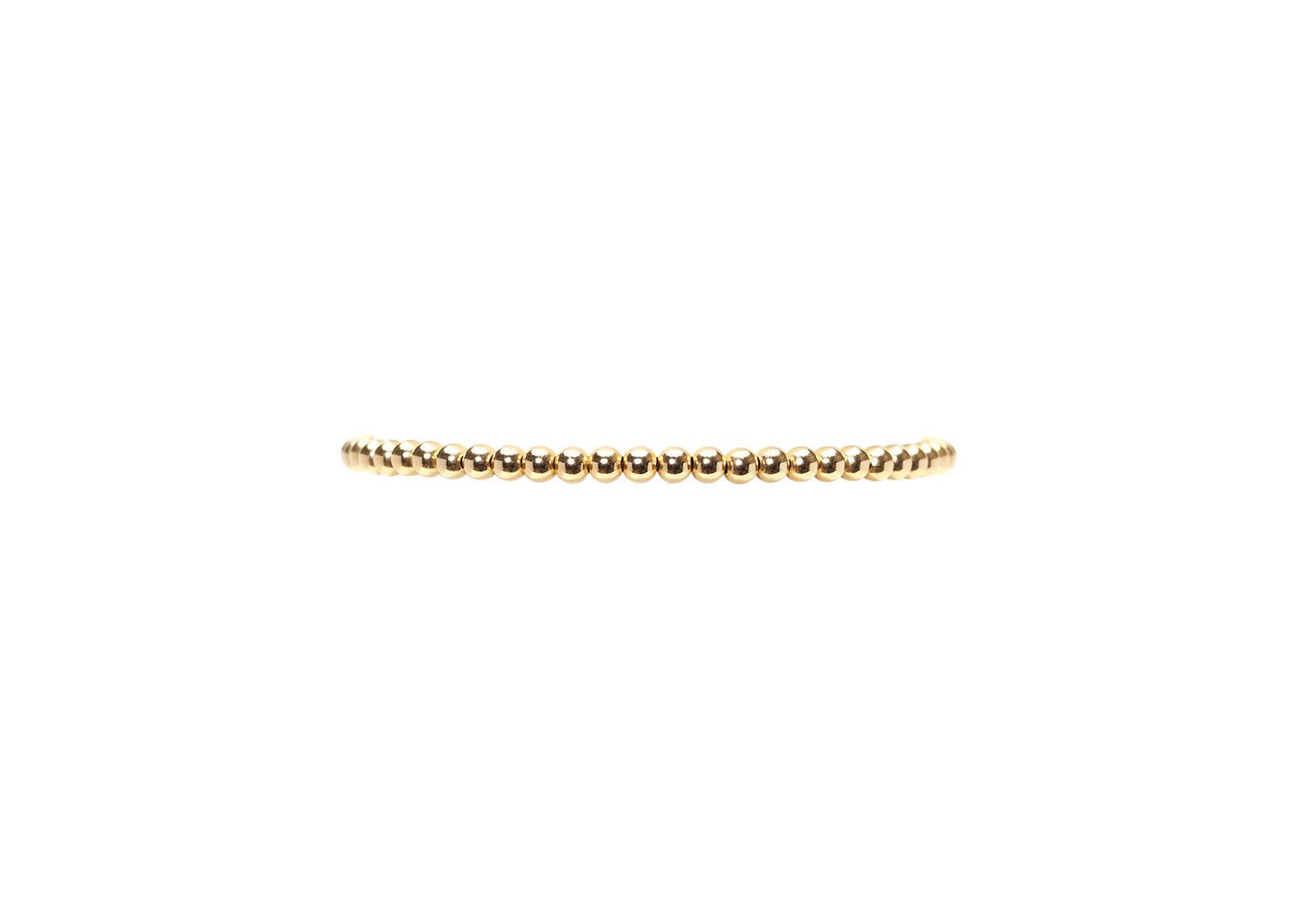 3mm Yellow Gold Filled Bracelet - CHILD SIZE