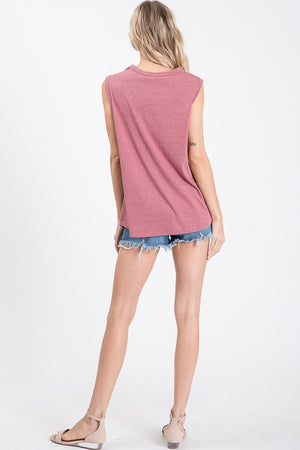 Laser-cut Sleeveless Top