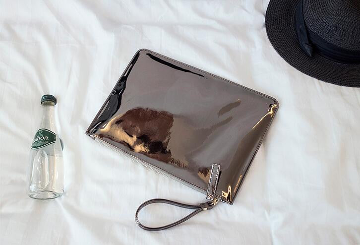 Shiny Metallic Clutch Purse