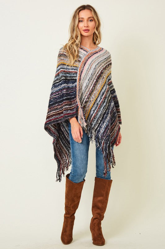 """Layer Up"" Sweater Knit Poncho"
