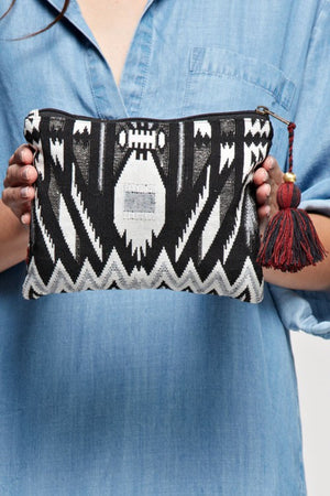 Aztec Motif Tapestry Make-up Bag