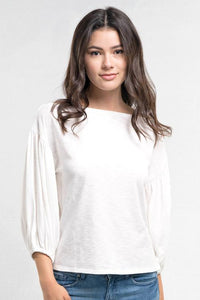 Balloon Sleeve Knit Top