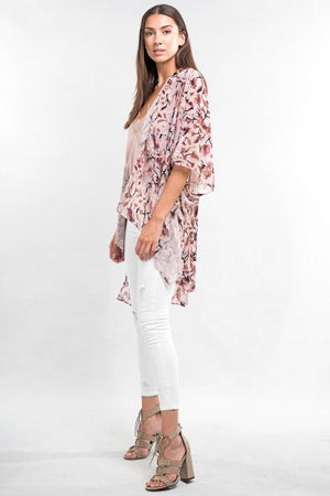 Burnout Velvet Split Kaftan