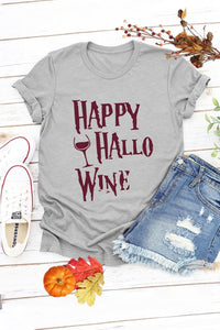 """Happy HalloWine"" T-shirt"