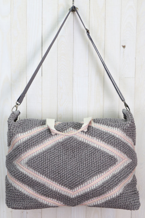 Diamond Patterned Getaway Bag