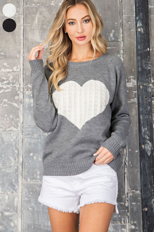 """Heart On Your Sleeve"" Sweater"