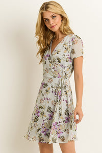 """Picture Perfect"" Floral Wrap Dress"