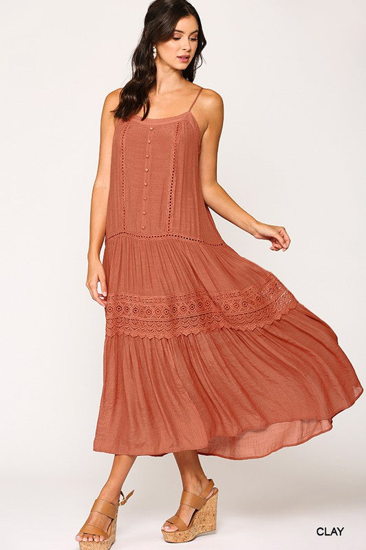 Lace Trim Maxi Sundress