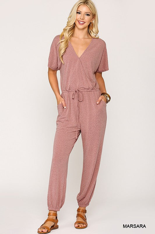 """Monday Mood"" Tonal Leopard Print Jumpsuit"