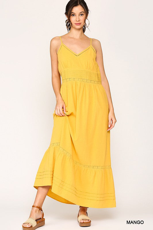 """Sunshine Day"" V-Neck Maxi Sundress"