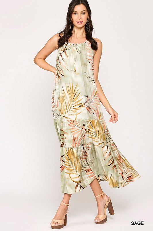 """Island Dream"" Tropical Print Maxi"