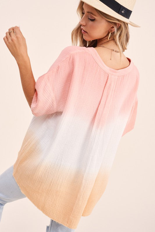 """Sunset"" Ombre Top"