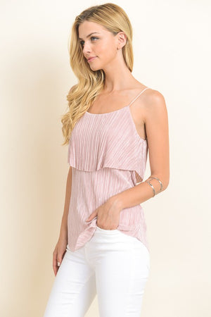 Satin Ruffle Top (2 colors)