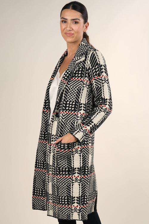 Plaid Car Coat