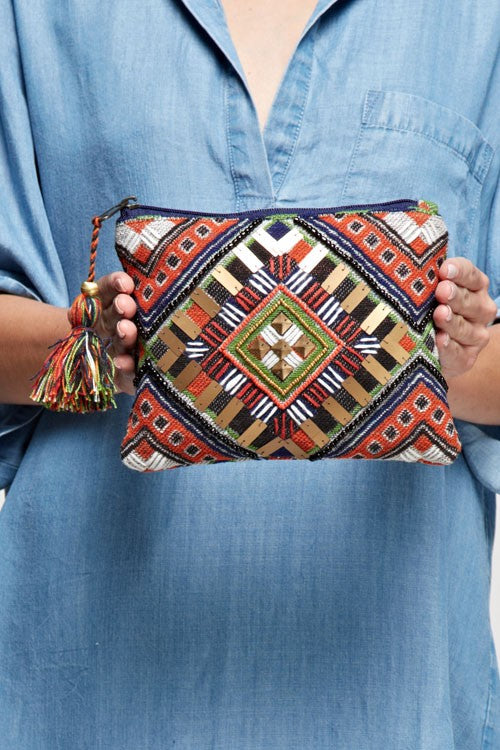 Navajo inspired Tapestry Make-up Bag