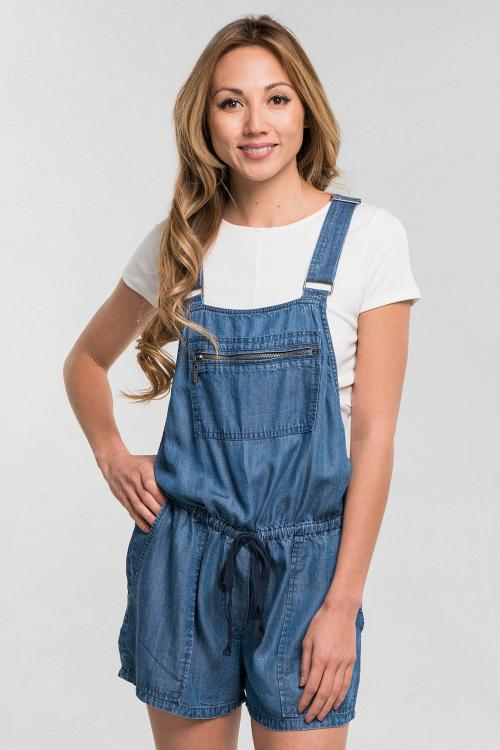 Tencel Overall Shorts