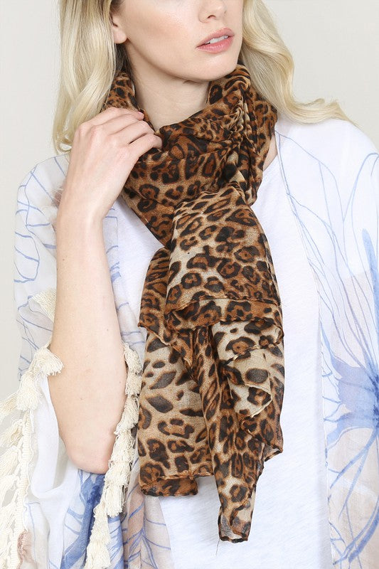 """Walk on the Wild Side"" Leopard Scarf"
