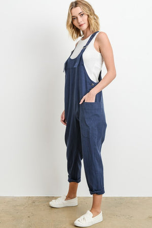 Scoop Neck Overalls