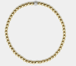 3MM Yellow Gold Filled Bracelet with 14k Gold Diamond Bead