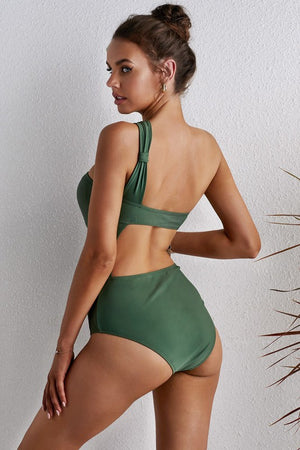 """Shoulder It All"" One-Shoulder One-Piece Bathing Suit"
