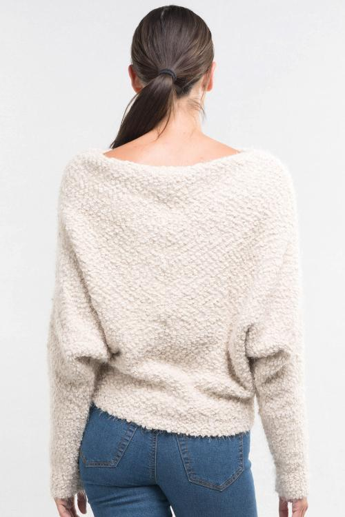 Slouchy Boat Neck Sweater