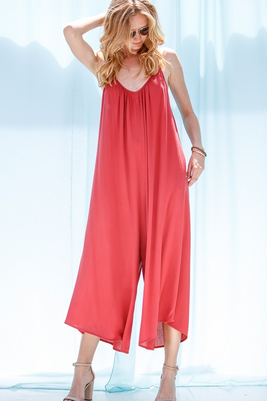 Wide Leg Jumpsuit (2 colors)