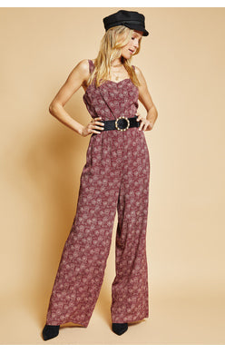 """Escape to Paris"" Wide Leg Jumpsuit"
